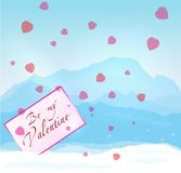 Winter mountains Valentine Royalty Free Stock Photos
