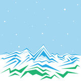 Winter mountains. Vector of the high winter mountains Royalty Free Stock Photography