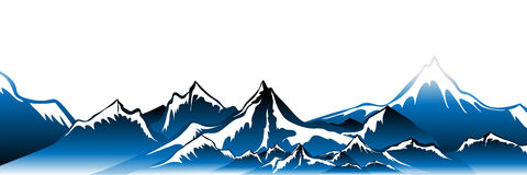 Winter mountains Vector Royalty Free Stock Image