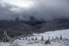 Free Winter Mountains With Approaching Snowstorm Stock Photo - 12141310