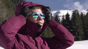 Winter Mountains stock video footage