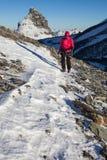 Winter mountaneering Stock Images