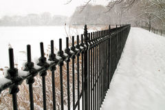 Winter-Märchenland, Central Park, New York City. Stockfoto