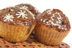 Winter muffins Royalty Free Stock Photos