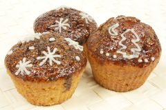 Winter muffins Royalty Free Stock Images