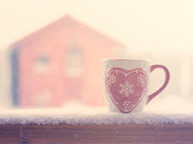 Winter mug Stock Photography