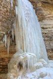 Winter, Munising Falls Royalty Free Stock Photography