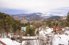 Winter in Murree, Pakistan. This photo is taken in Murree, Pakistan. Murree is a colonial era town located on the Pir Panjal Range within the Murree Tehsil Royalty Free Stock Images