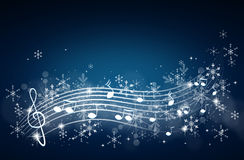 Winter music background Royalty Free Stock Image