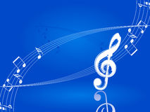 Winter music illustration. Royalty Free Stock Photo