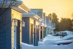 Winter-Nachbarschaft lizenzfreie stockfotos