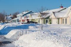 Winter-Nachbarschaft Stockfotos