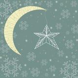 Winter-Nacht Stockbild