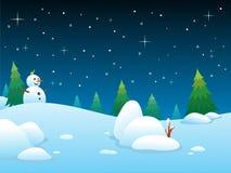 Winter-Nacht BG Stockbilder