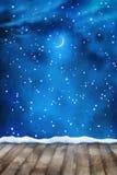 Winter-Nachtmalerei-Hintergrund Lizenzfreie Stockbilder