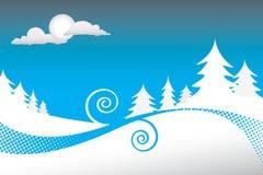 Winter-Nachtszene Lizenzfreie Stockfotos