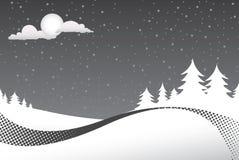 Winter-Nachtszene Stockfoto