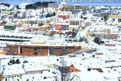 Winter Narvik Cityscape at dusk Norway Stock Photos