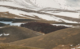 Winter in the national park of Monti Sibillini Stock Photography