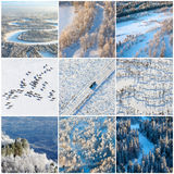 Winter natural textures, top view Royalty Free Stock Photos
