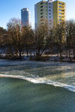 Winter nature.City. Stock Photography