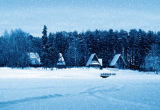 Winter nature, country Royalty Free Stock Photo