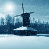 Winter nature, mill Royalty Free Stock Image