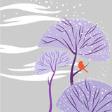 Winter nature vector Royalty Free Stock Photo