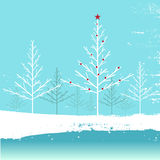 Winter nature vector Royalty Free Stock Images