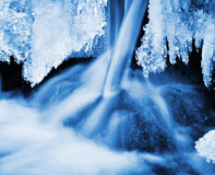 Winter nature water Stock Images
