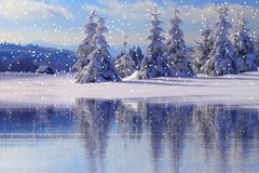Winter, Nature, Water, Snow stock photos