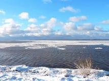 Winter near lake, Lithuania Stock Photography