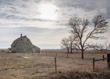 Winter Nebraska. Barn standing tall on the farm Royalty Free Stock Photography