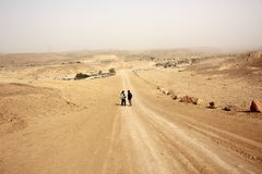 Winter in Negev desert Royalty Free Stock Image