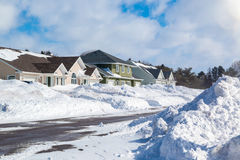 Winter Neighborhood Royalty Free Stock Photography