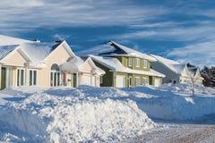 Winter Neighborhood Royalty Free Stock Photo