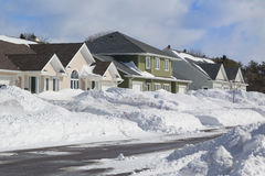 Winter Neighborhood Royalty Free Stock Images