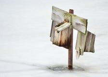 Winter Nesting Box Royalty Free Stock Photography