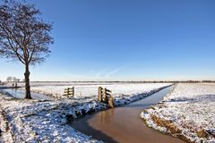 Winter in the Netherlands Royalty Free Stock Photos