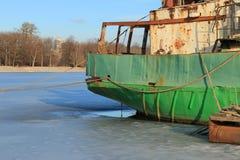 Winter in the Neva Bay Royalty Free Stock Photos