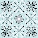 Winter, New Year, Christmas seamless pattern with points and circles Stock Photo