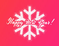 Winter New Year design snowflake Stock Photography