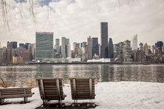 Winter in New York City stockbilder