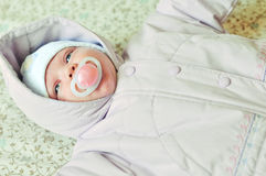 Winter newborn baby Royalty Free Stock Images