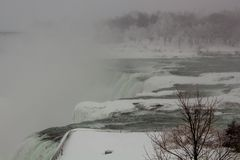 Winter Niagara Falls American Falls royalty free stock photography