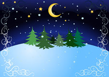 Winter night stock images