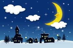 Winter night Stock Photography