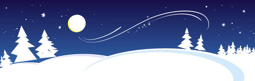 Winter night. Eve new year, vector illustration. Vector (EPS 8 Royalty Free Stock Photography
