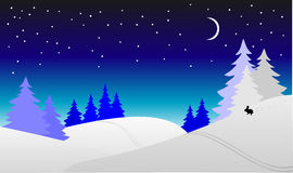 Winter night Stock Photo