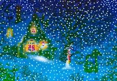 Winter night Royalty Free Illustration